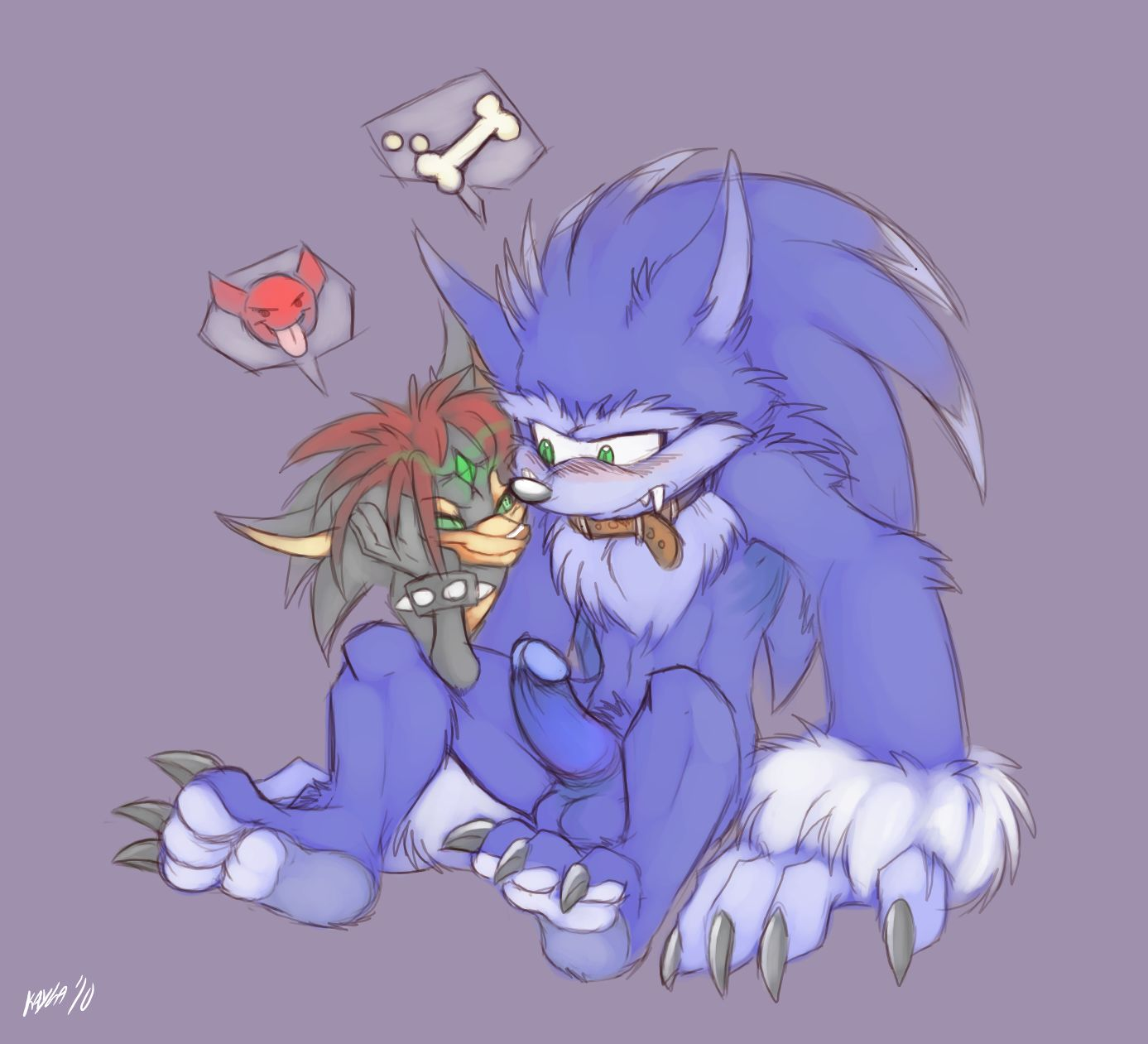 sonic werehog of images the Harley quinn naked with joker