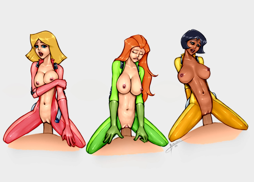 alex totally spies having from sex Famous-toons-facial