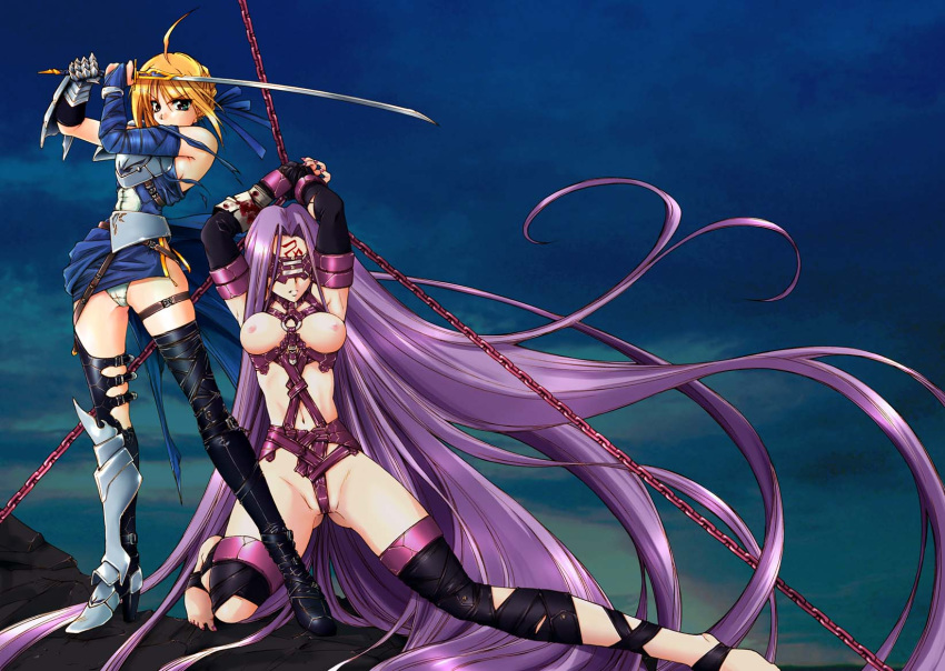 fate/stay hentai night saber Tarot: witch of the black rose